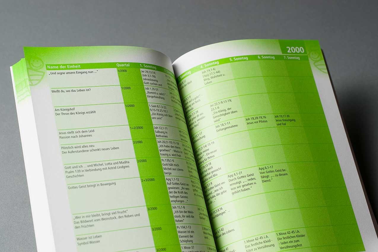 Fachbuch mit Tabellensatz