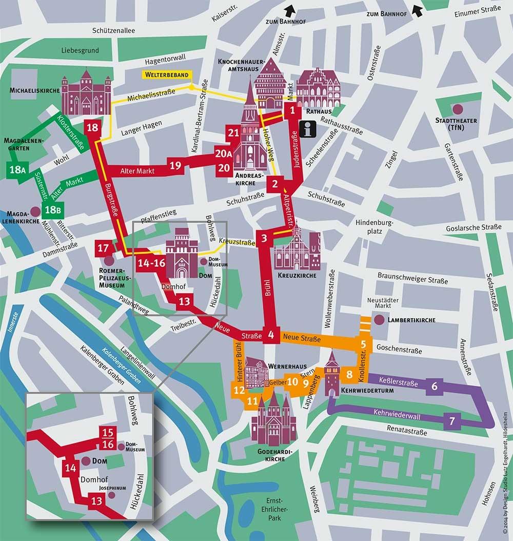 Stadtplan Rosenroute